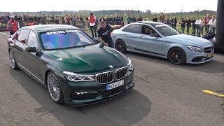 Download Alpina BMW B7 BiTurbo vs C63S AMG vs Audi RS6 Avant Video