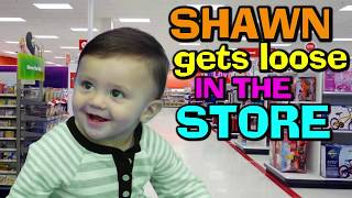 Download BABY SHAWN PLOPS OOPS IN BATHTUB 😢 + GOES SHOPPING @ TARGET 😃 (FUNnel Vision Baby Gone Wild Vlog) Video