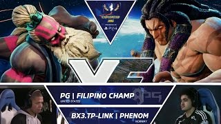 Download SFV: PG Filipino Champ vs BX3.TP-Link Phenom - Capcom Cup 2016 Day 1 Top 16 - CPT2016 Video