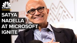 Download Microsoft Ignite: Satya Nadella, Bill McDermott, And Shantanu Narayen Video