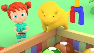 Download Learn colors & numbers - Machine Caterpillar - Dino the dinosaur and Kids Video