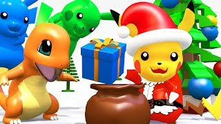 Download LEGO POKEMON Pikachu SANTA CLAUS Giving Christmas Gifts Video