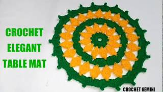 Download Simple Thalposh | #Vinkam | लोकरी चा रूमाल| Wool Thalposh| Crochet Thalposh | Thalpos Designs| Doily Video
