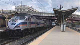 Download Amtrak and MARC Action at Baltimore Penn Station Video