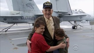 Download Twin boys surprised by their World War II idol Video