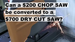 Download RIDGID abrasive cut off saw converted to dry cut. Maybe. Video