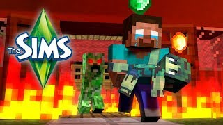 Download Monster School : THE SIMS Challenge - Minecraft Animation Video