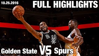 Download Spurs Top Warriors in Oakland l Full Highlights | Opening Night 10.25.16 Video