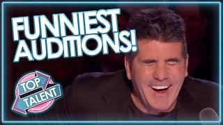 Download FUNNIEST AUDITIONS EVER ON GOT TALENT Video