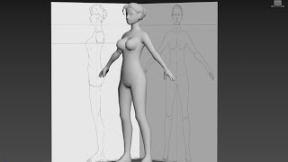 Download 3DS Max Woman character Body cylinder base-without narration -long version Video