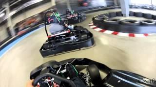 Download Indoor Go-Kart Crash. Kart Gets Air Video