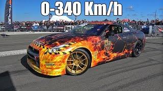 Download 1600HP Nissan GT-R R35 GTT Lucifer GoshaTurboTech 0-340 km/h Video