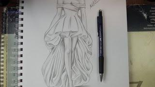 Download تعليم الرسم بالرصاص طريقة تصميم فستان مع الخطوات Video