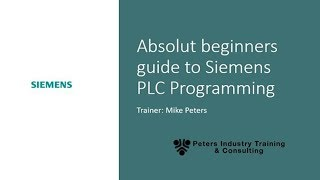 Download Siemens Step 7 an Absolute Beginners Guide to PLC Programming Introducing TIA Portal 1/8 Video