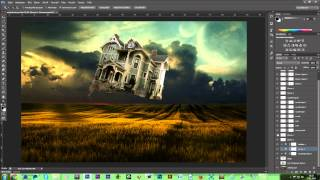 Download Flying House Speed art - Photo manipulation Video