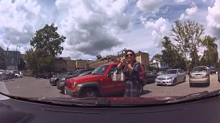 Download Crazy Lady Trying To Save Parking Spot With Her Body Video