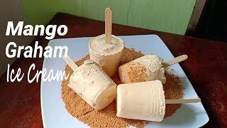 Download Homemade Mango Graham Ice Cream   How to make Mango Graham Ice Cream   No Ice Cream Maker Video