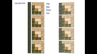 Download Log Cabin Chain Piecing - Animated Tutorial Video