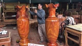 Download Xong đôi lọ lộc bình liền khối gỗ hương vân đỏ Anh Dương Long biên Hà Nội(11-3-2017)Dogothanhluan Video