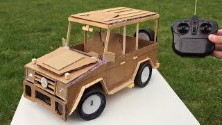 Download How to Make a Car with Remote Control using Cardboard - Mercedes-Benz G class - Awesome Toy DIY Video