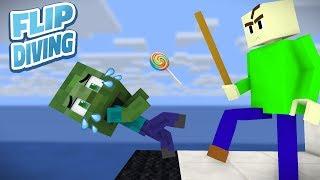Download Monster School: Baldi's Flip Diving Challenge - Minecraft Animation Video