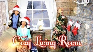 Download DIY - How to Make: Cozy Doll Living Room & Realistic Fireplace - Handmade - Doll - Crafts Video
