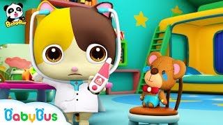 Download Baby Kitten Pretend Play with Doctor Toys | Doctor Song | Panda Cartoon | Kids Song | BabyBus Video