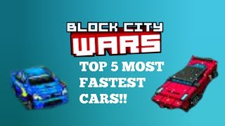 Download The Top 5 Most Fastest Cars In Block City Wars!!! Video
