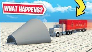 Download HUGE HAULER SLAMS INTO CEMENT FUNNEL.. (what happens?) Video