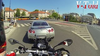 Download BMW S 1000 XR vs Nissan GT-R street racing in Warsaw Video