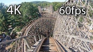 Download Twister front seat on-ride 4K POV @60fps Knoebels Amusement Park Video