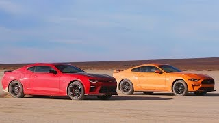 Download Desert Drag Race! Mustang GT vs Camaro SS 1LE - Head 2 Head Preview Ep. 98 Video
