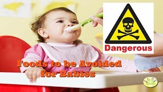 Download 12 Dangerous Foods to be avoided for baby, Dangerous foods for baby till 1 year Video