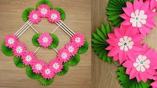 Download Wall Decoration Ideas | Beautiful Wall Hanging Making at Home | Paper Flower Wall Hanging ен7 Video