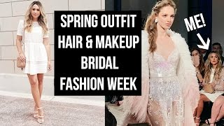 Download GRWM SPRING OUTFIT, MAKEUP & HAIR! COME TO BRIDAL FASHION WEEK WITH ME! Video