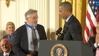 Download Robert De Niro Awarded Medal Of Freedom Video