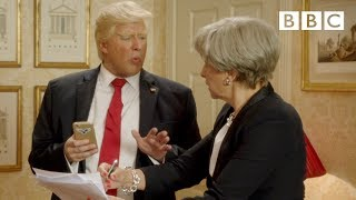 Download President Trump says British PM Theresa May is not hot - Tracey Breaks the News - BBC Video