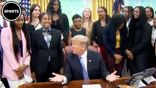 Download Trump EMBARRASSES Himself In Front Of Women's Basketball Team Video