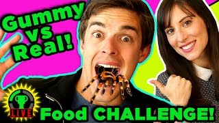 Download GUMMY FOOD vs. REAL FOOD CHALLENGE | TRYING NOT TO PUKE! Video