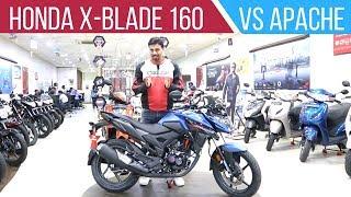Download Honda X-Blade 160 vs TVS Apache RTR 160 4V - Detailed Comparison Review Video