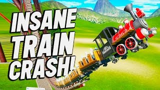 Download Planet Coaster Creations : INSANE TRAIN CRASHES!! Video