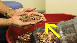 Download Man Cashing In Pennies He Collected For 45 Years Is Speechless At What The Bank Says Video