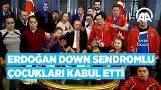 Download Cumhurbaşkanı Erdoğan, down sendromlu çocukları kabul etti Video