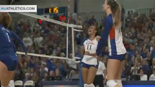 Download #9 Kansas edged in five by #5 Texas // Kansas Volleyball // 10.11.17 Video