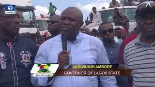 Download Ambode Flags Off Bola Tinubu Truck Terminal To Solve Apapa Traffic Congestion |Dateline Lagos| Video