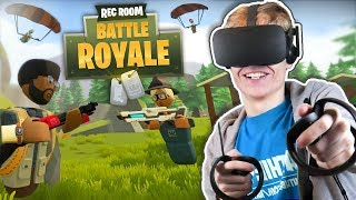 Download BATTLE ROYALE IN VIRTUAL REALITY! | Rec Room: Fortnite VR (Oculus Rift + Touch Gameplay) Video