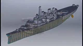 Download Turret Crawl Battleship Iowa BB61 Video