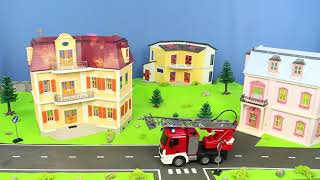 Download Fire Truck, Excavator, Police Cars, Concrete Mixer, Dump Trucks & Tractor RC Toy Vehicles for Kids Video