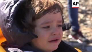 Download FRONTEX boat rescues migrants off Lesbos Video