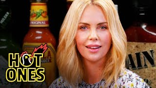 Download Charlize Theron Takes a Rorschach Test While Eating Spicy Wings | Hot Ones Video